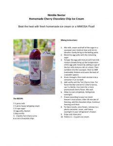 Nimble Nectar - Cherry Chocolate Chip Ice Cream (PDF)